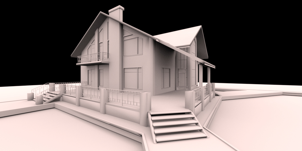 3d architectural renderings in real time fluidray rt software for Home rendering software