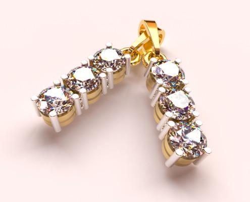 FluidRay RT jewelry rendering