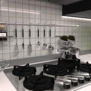 Kitchen real-time interior rendering