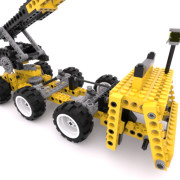 FluidRay RT real-time photo-realistic rendering of a lego crane