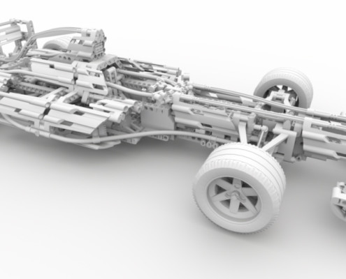 FluidRay RT real-time ambient occlusion of a lego car