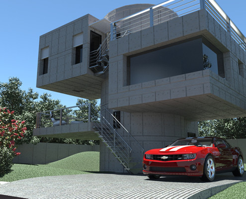 Modern House real-time rendering