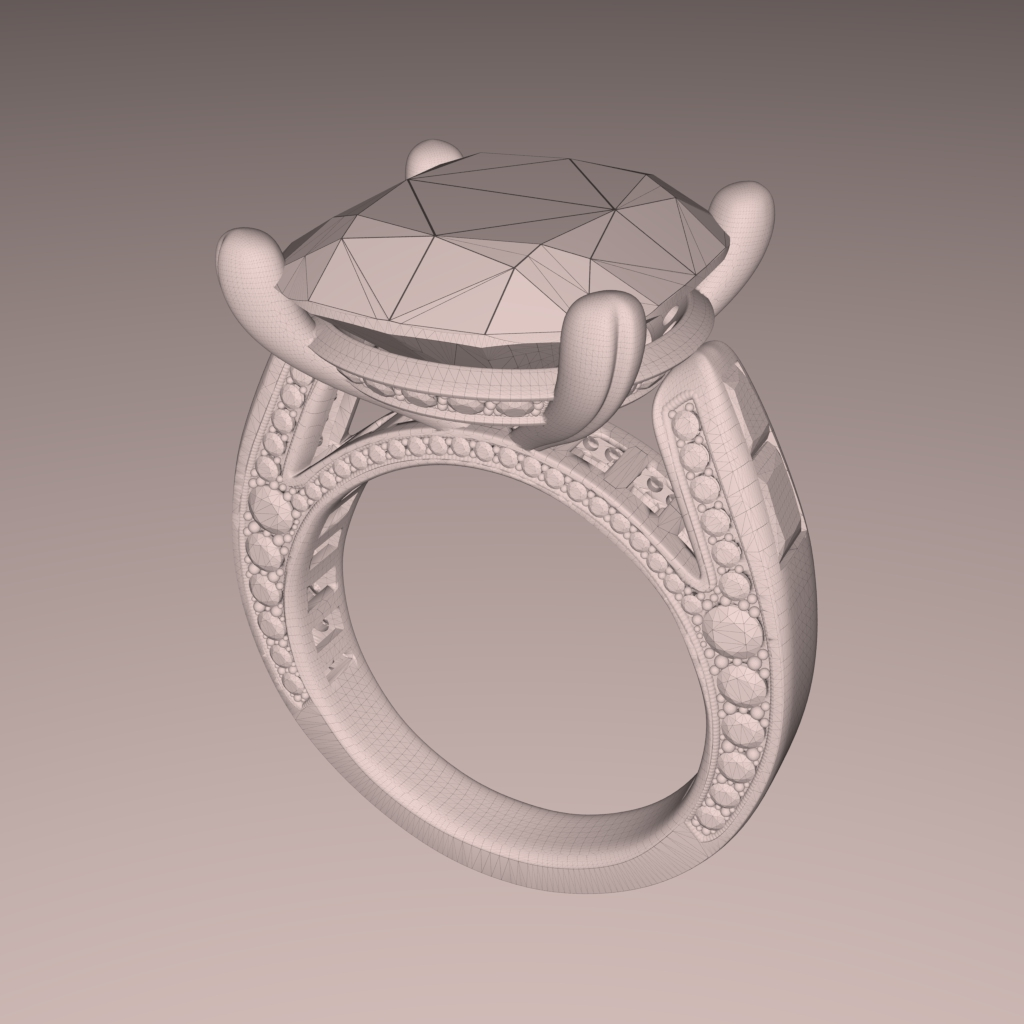 3d Jewelry Design Rendering In Real Time Fluidray Rt Software