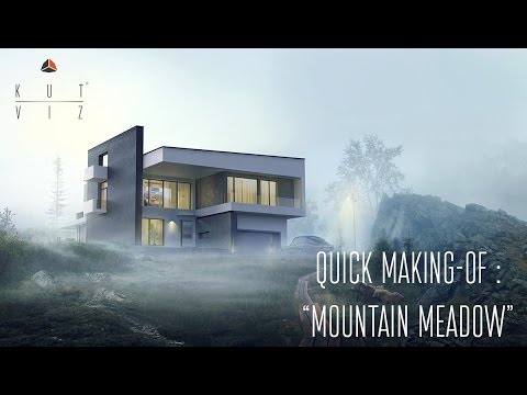 "Timelapse making-of ""Mountain meadow"" mattepainting tutorial"