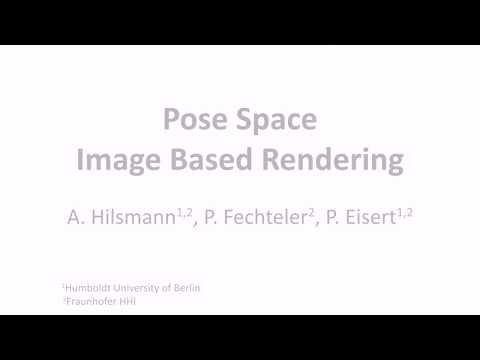 EG 2013, Pose-Space Image-Based Rendering