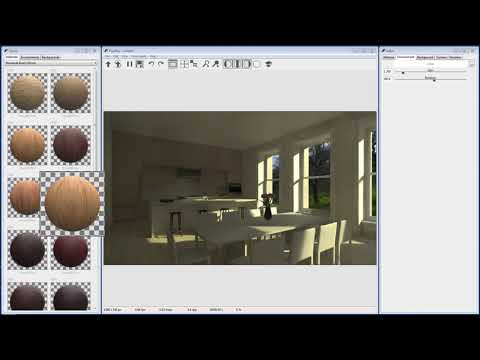 Interior Rendering in Rhino and FluidRay