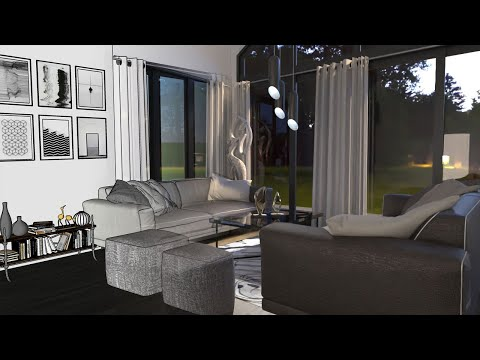 SketchUp Interior Rendering with FluidRay