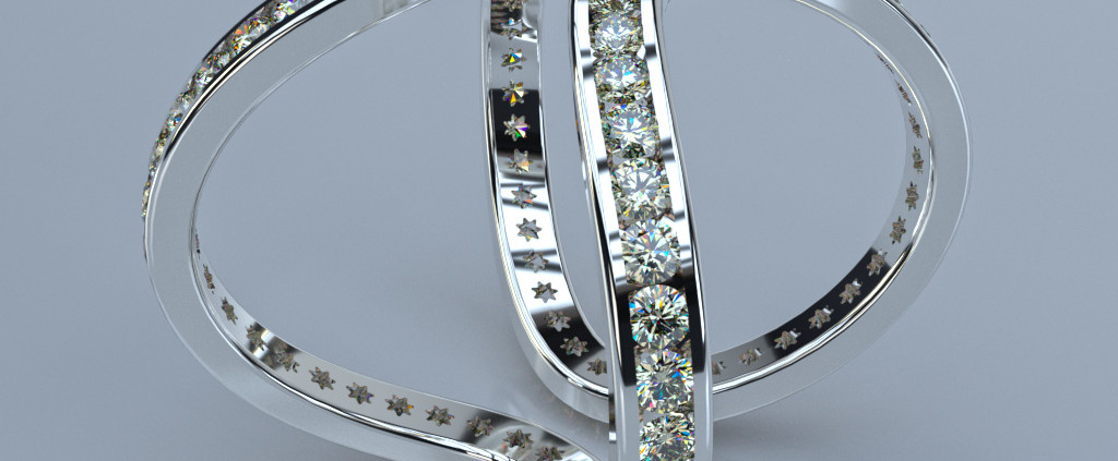 Jewelry Rendering | Diamond Ring Eternity Ring by Jose Maik