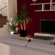 FluidRay RT real-time photo-realistic interior rendering of a living room