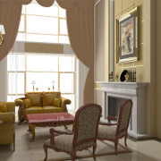 FluidRay real-time interior rendering of a living room