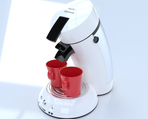 Coffee Machine realistic rendering