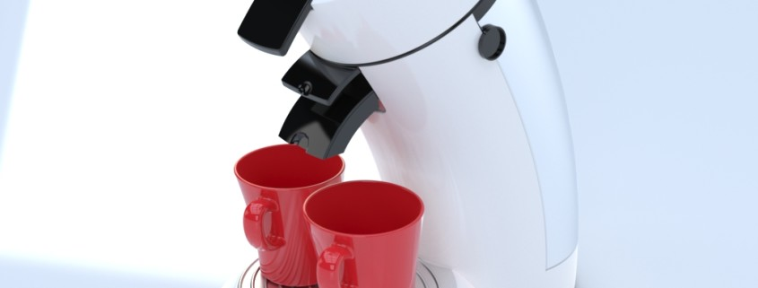 Coffee Machine realistic rendering