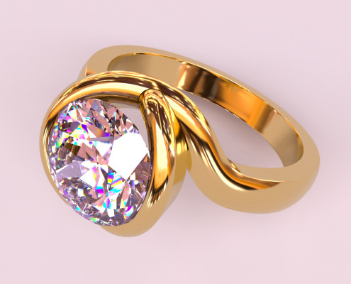 Jewelry Rendering | Diamond Ring Real-time jewerly rendering