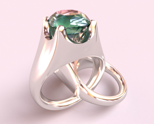 Jewelry Rendering | Gemstone Ring Real-time jewelry design