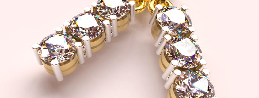 Jewelry Rendering | Diamond Ring FluidRay jewelry rendering