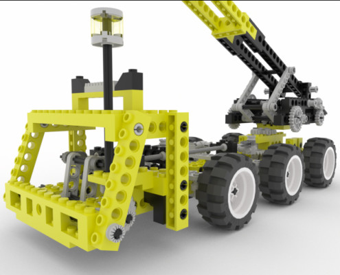 Lego crane in real-time