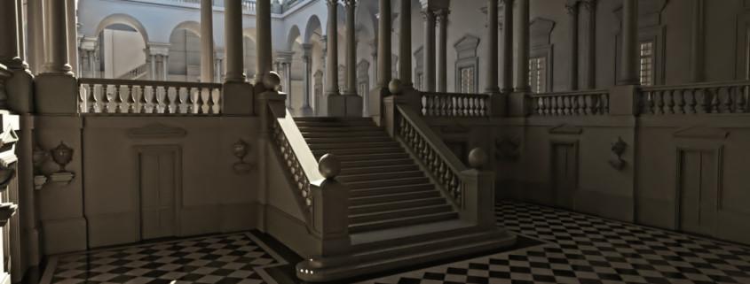 Palazzo dell'Universita' di Genova. Rendering by Roberto Pittaluga, modeling by Luca Sassone