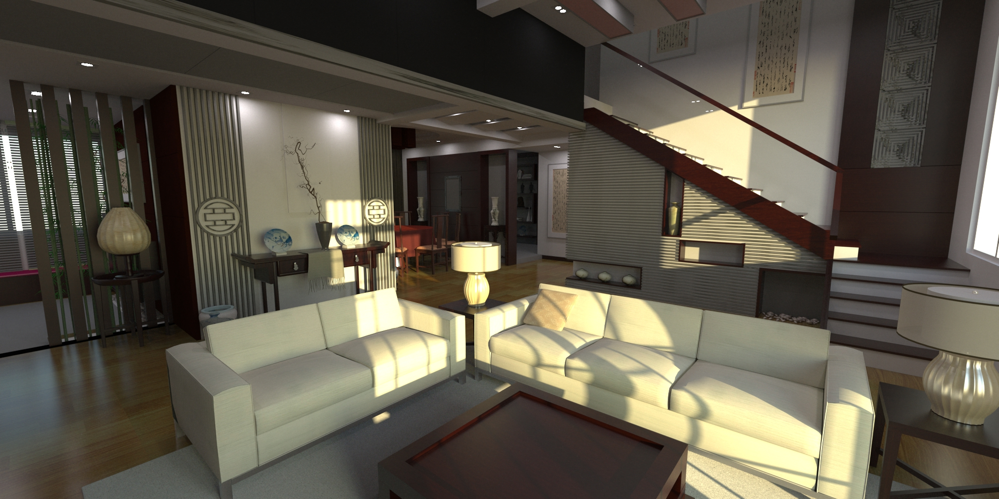 penthouse interior design experts architecture kitchen architectural rendering luxury