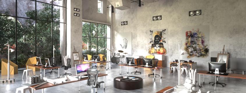Interior rendering in FluidRay