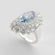 Jewelry Rendering | Gemstone Ring Rendered in FluidRay RT, design by Manuel Angel Piñeiro Solsona