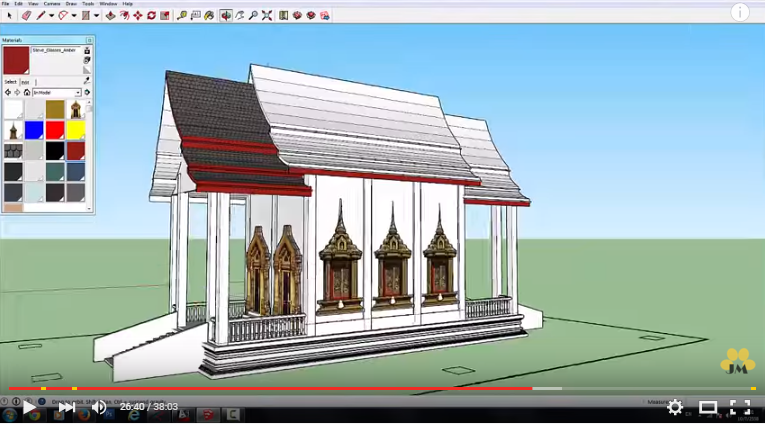 Sketchup pro 2015 How to Create thai temple model YouTube