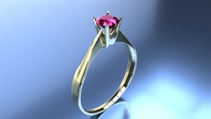 Engagement ring rendering width FluidRay