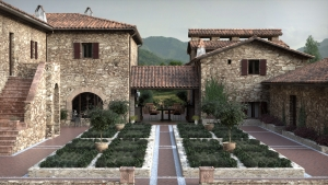Realistic Exterior Architectural Rendering with FluidRay