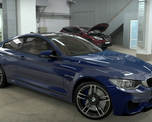BMW Realistic Rendering with FluidRay