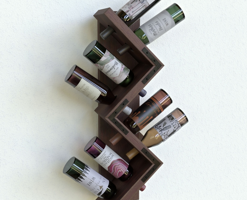 Bottle holder rendering with FluidRay